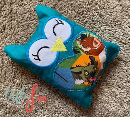 Turquoise Owl Animal Wheat Bag