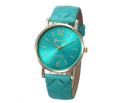 Turquoise Quilt Styled Watch