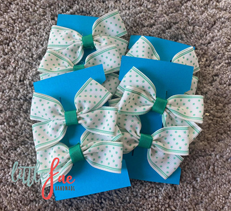 Turquoise Star Hair Bows