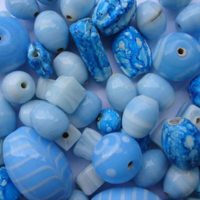 Turquoise & White Fancy Bead Mix