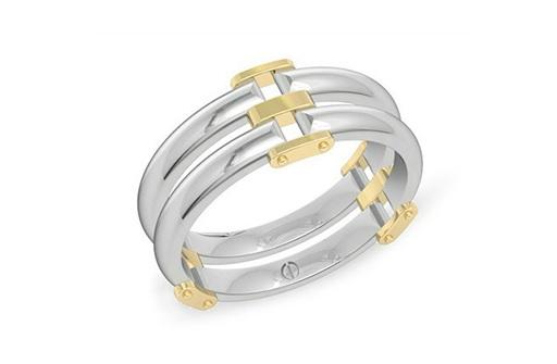 Tusca Inspired Men's Palladium Ring