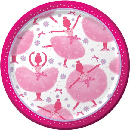 Tutu Much Fun Ballerina Party Plates x 8
