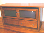 TV stand two doors and two drawers