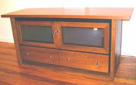 Lotus TV Stand - Two Drawer