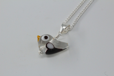 Tweetie pie pendant - clear