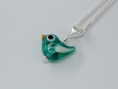 Tweetie pie pendant - teal
