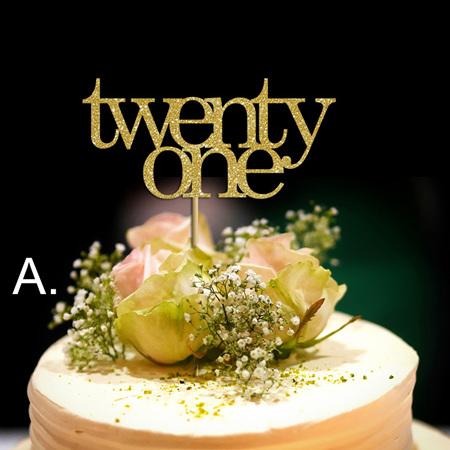 Twenty First Cake Toper