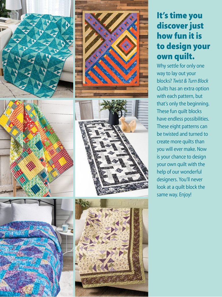 Twist & Turn Block Quilts