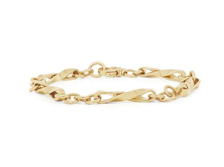 Twist Yellow Gold Chain Bracelet