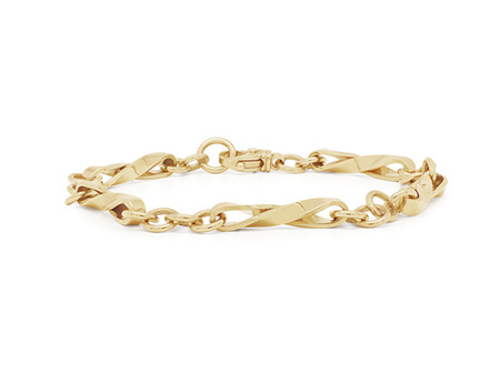 Twist Yellow Gold Chain Bracelet