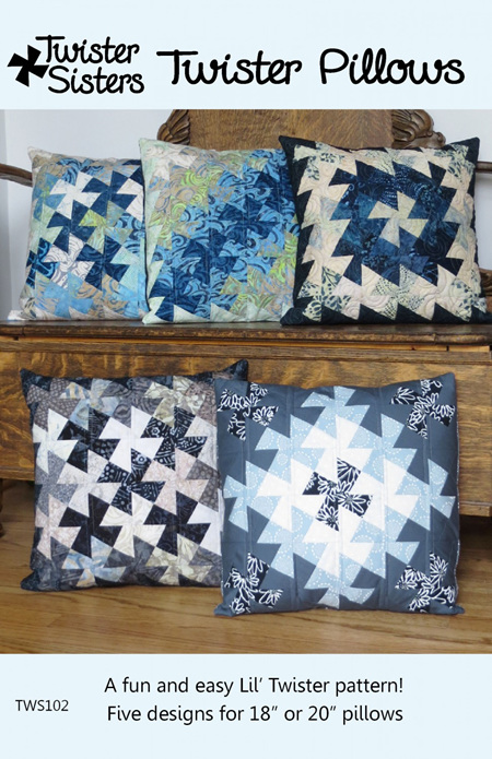 Twister Pillow Pattern by Twister Sister Designs
