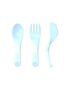 Twistshake Learn Cutlery 6+m Blue
