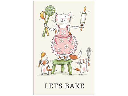 Two Bad Mice Tea Towel - Let's Bake