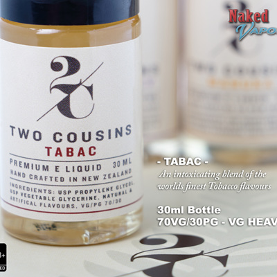 Two Cousins - Tabac - 30ml - e-Liquid