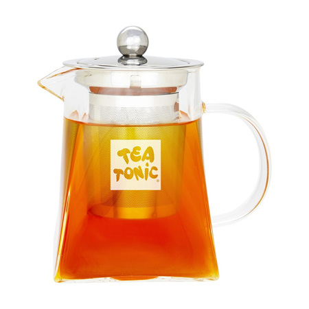 TWO CUP GLASS TEA POT