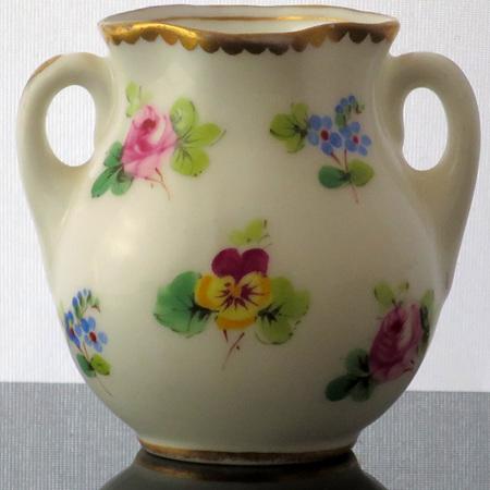 Two handled miniature pot