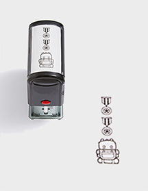 Two Medals and Mission Self-inking Stamp