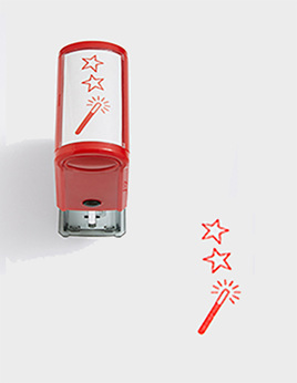 Two Stars and Wish Self-inking Stamp