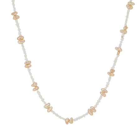 Two-Tone Natural Pearl Necklace
