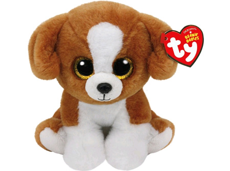 TY Beanie Babies Snicky Brown Dog