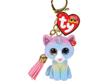 TY Mini Boo Clip Heather-Cat