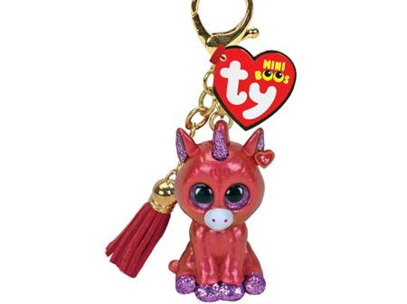 TY Mini Boo Clip Sunset-Unicorn