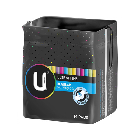 U BY KOTEX REGULAR PADS ULTRA THIN 14PK