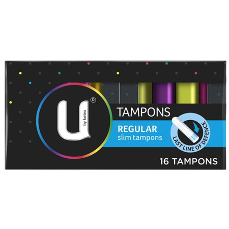 U BY KOTEX TAMPON REGULAR SLIM TAMPONS 16 PACK