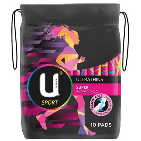 U BY KOTEX ULTRA THIN PAD+WINGS 10 PACK