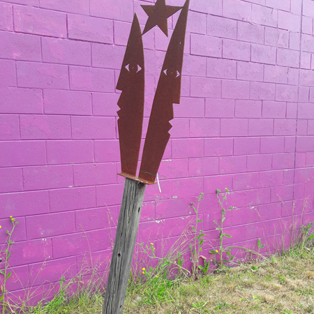 'U + I' Sculpture On Plinth - Mark Dimock