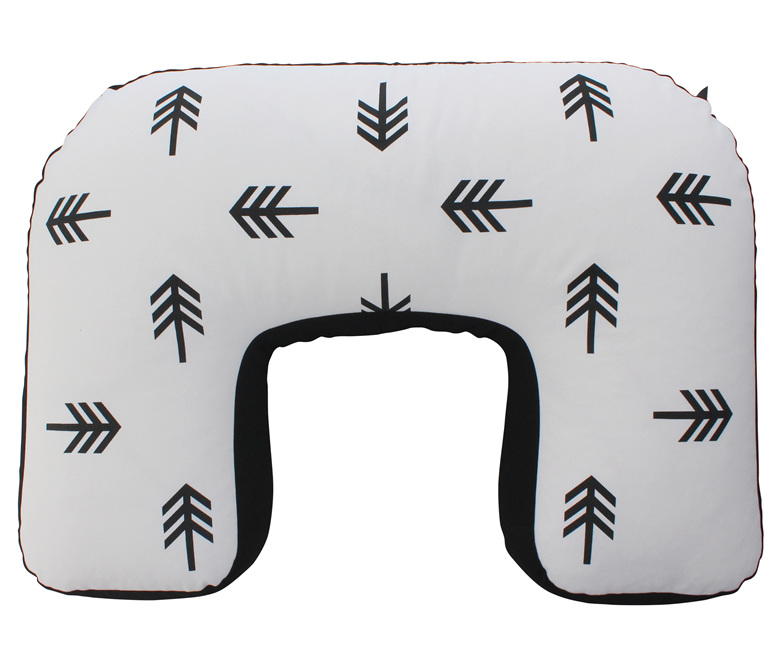 U shaped BabyBaby nursing pillow with a cute arrow print on it