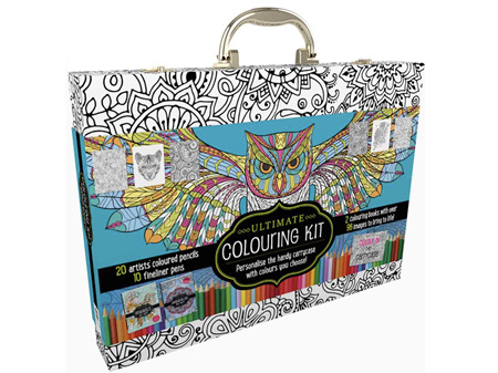 Ultimate Colouring Carry Case Mandalas and Animals