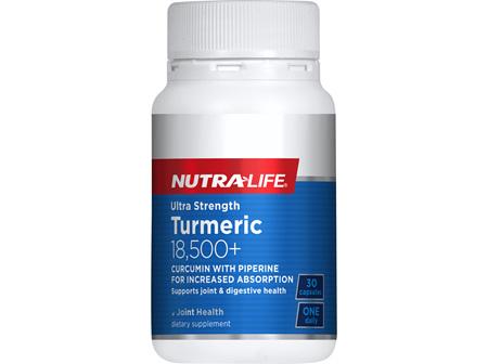 Ultra Strength Turmeric 18,500 + - 30 Caps