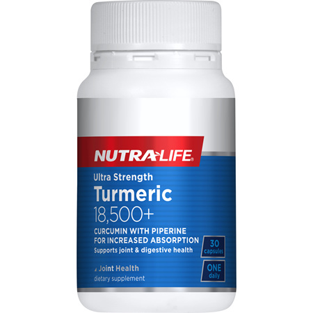 Ultra Strength Turmeric 18,500 + - 30 Caps