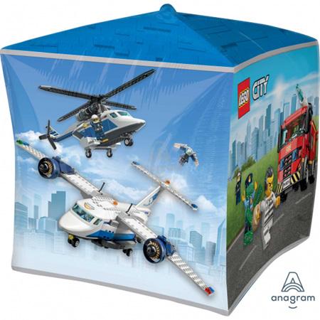 Ultrshape Lego City cubez foil balloon