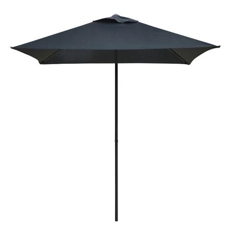 Umbrella Metal Canvas Black 200cm SQUARE