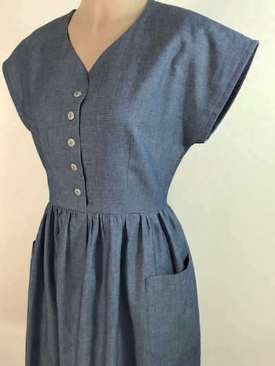 Ume shirt dress in chambray
