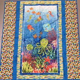 Under the Sea Cot Quilt