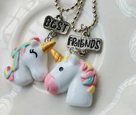 UNICORN BEST FRIENDS NECKLACE 2pk