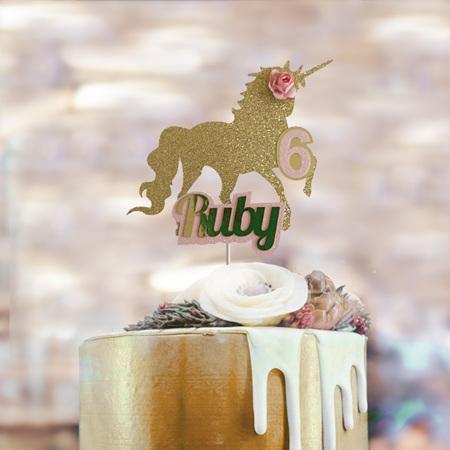Unicorn Cake Topper Personalised