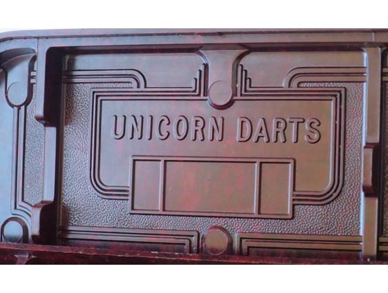 Unicorn darts bakelite box