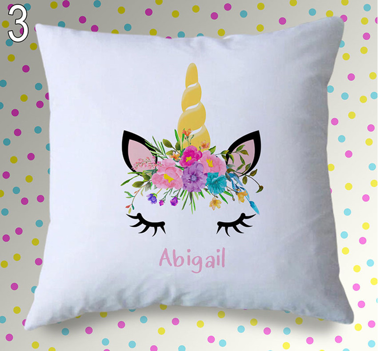 Unicorn Face Personalised Cushion Cover