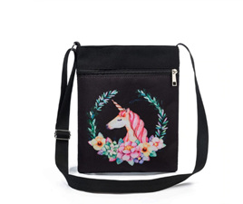 Unicorn Flower Wreath Unicorn Bag