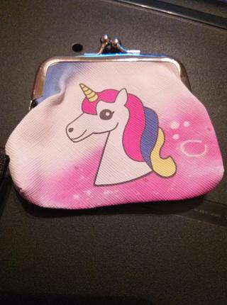 Unicorn Head Rainbow Mane COIN PURSE
