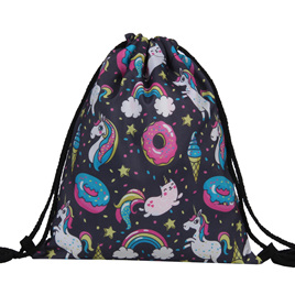Unicorn, Ice Creams & Donuts Polyester Bag
