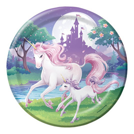 Unicorn large plates x 8.