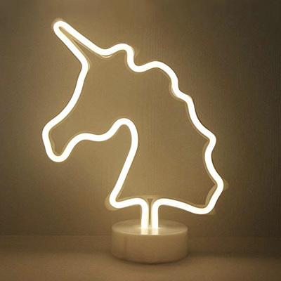 Unicorn LED Neon Lights USB or Battery - Warm White
