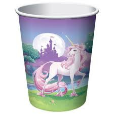 Unicorn Party Cups x 8