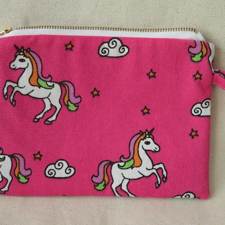 Unicorn Pink Pencil Case - Medium