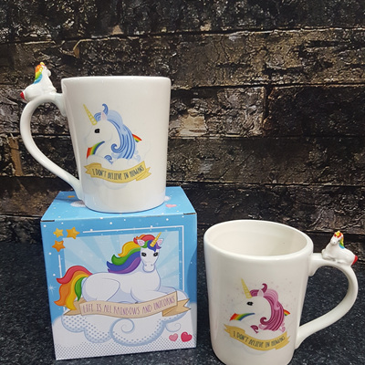 Unicorn Rainbow Mug Pink or Blue